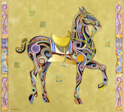 Abstract Realism Paintings - Zhou Dynasty Horse by Bob Coonts