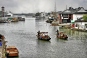 East China Prints - Zhujiajiao - A Glimpse of Ancient Yangtze Delta Life Print by Christine Till