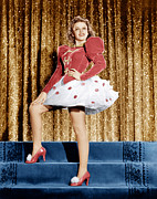 Red Shoes Framed Prints - Ziegfeld Girl, Judy Garland, 1941 Framed Print by Everett