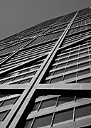 Chicago Black White Metal Prints - Zig-zagging To The Top Metal Print by Daniel Chen
