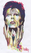 Ziggy Stardust Drawings - Ziggy by Cecile Lucenay