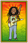 Rock N Roll Digital Art - Ziggy Marley by John Goldacker