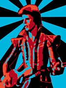 David Bowie Posters - Ziggy Played Guitar Poster by Lance Vaughn