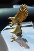 Car Detail Prints - Zimmer Eagle Hood Ornament Print by Jill Reger
