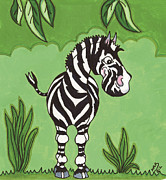 The Tiger Paintings - Zimmy the Zebra by Kirsty Breaks
