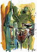 Wine Bottle Paintings - Zin-FinDel by Robert Joyner