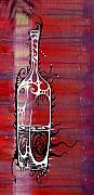 Wine Bottle Art - Zinfandel by John Benko