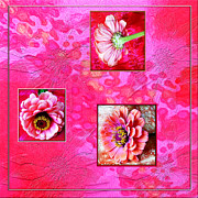 Zinnias Digital Art - Zinnia In The Pink by Edie Kynard