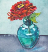 Zinnia Paintings - Zinnia by Jane Loveall