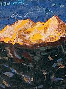 Park Landscape Mixed Media Originals - Zion at Sunrise by Donna Ryan