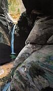 Zion Canyon Falls Print by Robert Keller