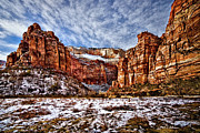 Ocular Perceptions Acrylic Prints - Zion Canyon In Utah Acrylic Print by Christopher Holmes