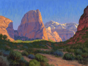 Zion National Park Painting Prints - Zion Light Show Print by Cody DeLong