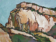 Overhang Painting Framed Prints - Zion National Park Framed Print by Sandy Tracey