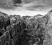 Rock Angels Posters - Zion National Park - View from Angels Landing Poster by Larry Carr