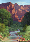 Cottonwood Paintings - Zion by Randy Follis
