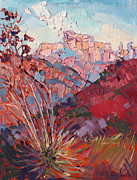 Zion National Park Painting Prints - Zion Summer Print by Erin Hanson