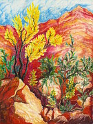National Pastels Originals - Zion Vignette by Yvette Rolufs