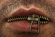 Fbi Posters - Zipper on mouth Poster by Blink Images