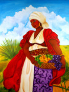Gullah Art Framed Prints - Zipporah Framed Print by Diane Britton Dunham
