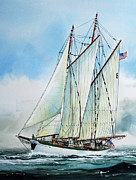 Tall Ship Print Prints - Zodiac Print by James Williamson
