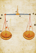 Manuscript Illumination Prints - ZODIAC SIGN: LIBRA, c1350 Print by Granger