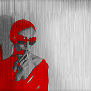 Sunglasses Digital Art - Zoe in Red by Irina  March