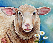 Lamb Framed Prints - Zoe Framed Print by Laura Carey