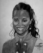 The Keeyonardo Project Drawings Originals - Zoe Saldana by Keeyonardo