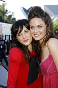 Zooey Deschanel Photo Prints - Zoey Deschanel, Emily Deschanel Print by Everett