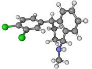 Zoloft Antidepressant Drug Molecule Print by Laguna Design