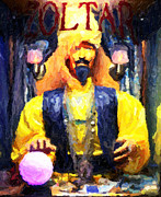 Santa Monica Digital Art Metal Prints - Zoltar Greeting Card Metal Print by John Rizzuto