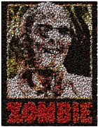 Bottle Cap Digital Art Posters - Zombie Bottle Cap Mosaic Poster by Paul Van Scott