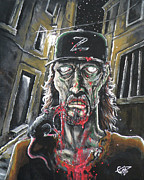 Zombies Painting Originals - Zombie Tom by Tom Carlton