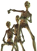 Fantasy Creature Metal Prints - Zombies, Artwork Metal Print by Victor Habbick Visions