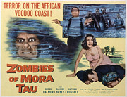 1957 Movies Photo Prints - Zombies Of Mora-tau, Autumn Russell Print by Everett