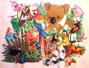 Image Painting Originals - Zoo Animal by John YATO