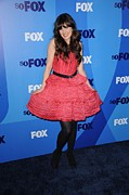 Belted Dress Posters - Zooey Deschanel At Arrivals For Fox Poster by Everett