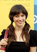 Premiere Framed Prints - Zooey Deschanel At Arrivals For Little Framed Print by Everett