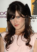 Zooey Deschanel Art - Zooey Deschanel At Arrivals For The by Everett