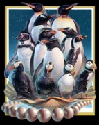 Puffin Paintings - ZooFari Poster 2004 by Hans Droog