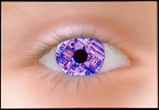 Circuit Photos - Zoom Effect Of Eye With Circuit Board In Iris by Victor De Schwanberg