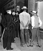 Arrests Framed Prints - Zoot Suit Riots In Los Angeles. Police Framed Print by Everett