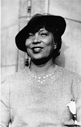 Author Metal Prints - Zora Neale Hurston 1981-1960 Metal Print by Everett