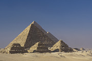 Dominant Prints - Zoser and Giza Pyramids Print by Adam Crowley