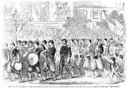 Streetlight Photos - Zouaves Marching, 1861 by Granger