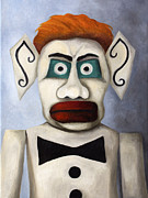 Burning Painting Posters - Zozobra of Santa Fe Poster by Leah Saulnier The Painting Maniac