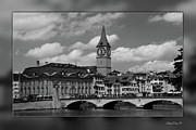 Art-santoro Framed Prints - Zuerich Framed Print by Bruno Santoro