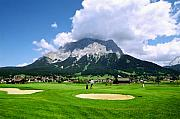 Golf Green Prints - Zugspitze Arena Print by Kevin Smith