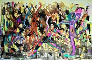 Abstract Dance Painting Originals - Zumba by James  Christiansen